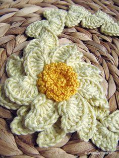 Crochet pattern flower headband pattern baby girl gift diy arc beautiful crochet headband with flower light yellow flower headband ready to ship for your baby mightylinksfo Choice Image