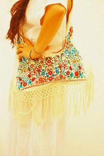 Aida Coronado: Mexican Bohemian Hippie Bag Traveling Purse
