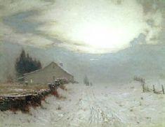 Sunrise in Winter by Birge Harrison.