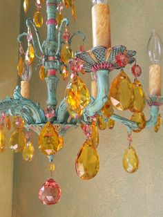 Gypsy Chandelier Crystal and Brass One of a Kind by queendecor