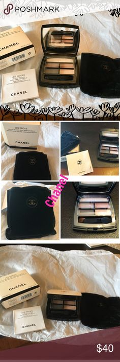 Chanel EyeShadow Les Beiges  Healthy Glow Natural EyeShadow Palette   This is the perfect eyeshadow palette for easy, natral-toned looks. Five smudge-proof, long lasting colors—- from soft to intense, with matte to shimmery finishes—wear your favorite shades alone or mix and march for a custom eye look. 0.16oz CHANEL Makeup Eyeshadow