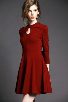 Red Clothes For Women Look Vintage, Vintage Mode, Fashion Beauty, Girl Fashion, Womens Fashion, Fashion Design, Pretty Outfits, Beautiful Outfits, Chic Dress