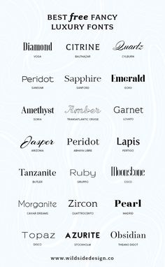 Best Free Luxury Fonts - Fonts - Ideas of Fonts - What if you want to make YOUR brand look high end? Here are some free luxury fonts in a variety of styles serif sans-serif and some high-end scripts. Web Design, Free Font Design, Font Logo Design, Type Design, Good Design, Branding Design, Graphic Design Fonts, Fashion Logo Design, Material Design