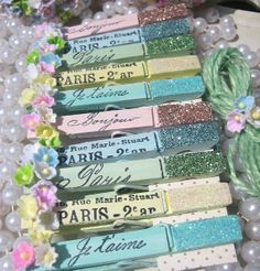 altered clothes pins | Beautiful Altered Clothespins