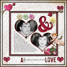 Digital scrapbook layout created with the FREE digital scrapbooking template from Kate Hadfield Designs!   scrapbook layout ideas   layout by Christa