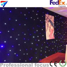396.50$  Buy here - http://alij95.worldwells.pw/go.php?t=32367482114 - 4mx6m led light star curtain display screen