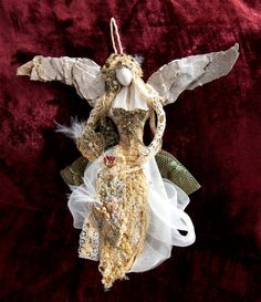 ALTERED ART MIXED MEDIA HANDMADE Garden Stakes Fairies Angels Christmas You Pick