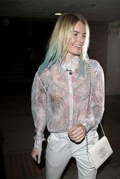 Kate Bosworth got a dip dye! amazing. #turquoise_hair #dip_dye #ombre