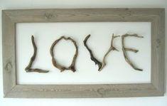 Driftwood Art & Crafts driftwood crafts idea letters set on a mirror Driftwood Beach, Driftwood Crafts, Driftwood Ideas, Crafts To Make, Arts And Crafts, Art Crafts, Diy Art, Recycling, Picture On Wood