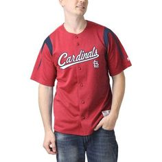 MLB St Louis Cardinals Big Men's Color Block Jersey, Size: 2XL, Red