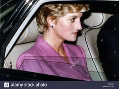 Princess Diana leaving the Hilton Hotel after lunch December 1992.