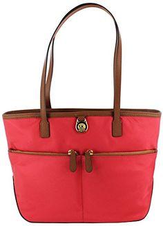 Michael Kors Kempton Medium Pocket Nylon Tote Handbag Mic... http://a.co/877arnN