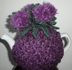 Scottish thistle hand knitted and crocheted by peerietreisures