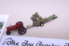 1/64 John Deere 14-T square baler built from brass.