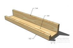 Aha! Finally, real instructions for how to build a custom picture ledge (picture rail). Author says it can be done for about $10 / 8 feet.---can also paint ones from IKEA