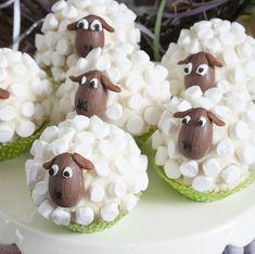 Little Sheep Cup Cakes - Marshmallows, c. - Little Sheep Cup Cakes – Marshmallows, chocolate solid eggs – YUM The Effective Pictures We Off - Cake Cookies, Cupcake Cakes, Cup Cakes, Cupcake Recipes, Muffin Recipes, Holiday Treats, Holiday Recipes, Dinner Recipes, Dinner Ideas