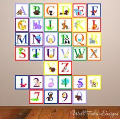 Full Colour Large Animal Alphabet Wall Stickers Nursery Decal Educational  Learning Murals. £18.99, Via Etsy. | Nursery Ideas | Pinterest | Alphabet,  ... Part 51