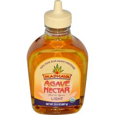Madhava Natural Sweeteners, Organic Agave Nectar, Light, 23.5 oz (667 g) - iHerb.com