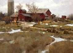 "Képtalálat a következőre: ""mark boedges artist"" Impressionist Landscape, Landscape Art, Landscape Paintings, Traditional Paintings, Traditional Art, Great Paintings, Oil Paintings, Country Scenes, Beautiful Landscapes"