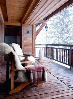 Winter Cabin Porch