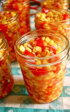 Sweet Corn tablespoon vegetable oil 3 cups diced red bell pepper or 4 peppers) 1 tablespoon kosher salt 3 cups fresh or thawed frozen corn kernels 1 cups diced red onion very large onion) 1 cups apple cider vinegar 1 Cup sugar teaspoon ground turmeric Retro Recipes, Vintage Recipes, Corn Relish Recipes, Sweet Corn Recipes, Corn Relish Dip, Jelly Recipes, Canning Pickles, Canning Corn, Spicy Pickles