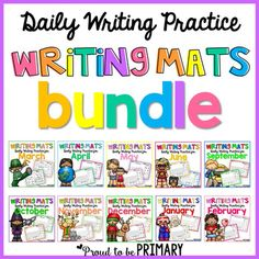 Writing bundle: Colour the check for your stage of writing.