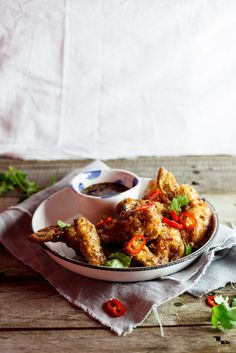 Korean Fried Chicken with a sweet and spicy sauce. #foodphotography #recipe