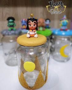 Adornos Halloween, Birthday Party Themes, Biscuit, Birthdays, Pasta, Crystals, Festival Themed Party, Decorated Jars, Productivity