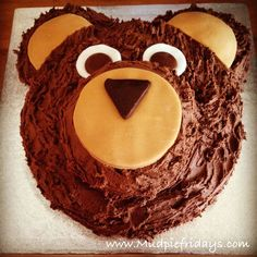Going on a Bear Hunt Birthday Cake - chocolate sponge, butter icing and fondant icing. Toddler Birthday Cakes, 4th Birthday Cakes, Picnic Birthday, Dinosaur Birthday, Birthday Ideas, Chocolate Sponge, Cake Chocolate, Teddy Bear Cakes, Butter Icing