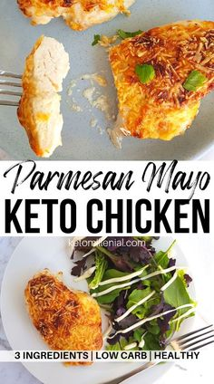 This easy mayo parmesan chicken keto recipe. This easy mayo parmesan chicken keto recipe is to die for! You need to try this chicken mayo parmesan keto recipe its so tender and juicy and will just melt in your mouth! Chicken Mayo Parmesan, Poulet Keto, Mayo Chicken, Keto Chicken Thighs, Keto Chicken Thigh Recipes, Chicken Recipes, Ketogenic Recipes, Low Carb Recipes, Tutorials