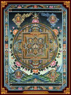 Avalokiteshvara1000 arm Mandala Thangka Painting
