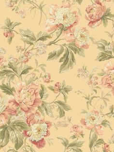 This light and airy floral was inspired by Waverly's Forever Yours fabric. With trailing peonies and delicate daisies on an open field, the wallcovering is bright and cheerful. Six color combinations include a mix of foggy gray, dusty lilac, wisteria, cream, butter and sage. This classic design will coexist beautifully with Forever Yours or Lover's Lane stripe.