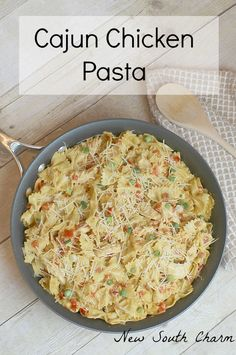 Cajun Chicken Pasta Is a fast easy recipe that can help you get dinner on the table in a hurry.