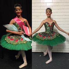 Esmeralda tutu in D&G lace over green, by Margaret Shore
