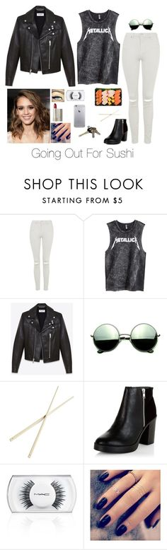 """Going Out For Sushi"" by brenda-all-over ❤ liked on Polyvore featuring Topshop, H&M, Yves Saint Laurent, Revo, Maybelline, Ilia, CB2, New Look, MAC Cosmetics and Lottie"