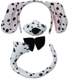 Dalmation Ears Headband /& Tail Set Fancy Dress Plush Puppy Dog 101 Dalmatians