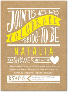 Krafty Bride:Sunny Yellow    I would like this design as a save the date...