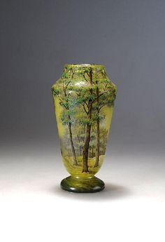 The Daum brothers were the art glassmaker who established in Art Nouveau period.  There have been four major eras in the art glass produced by Daum, namely Art Nouveau, Nouveau Pate-de-Verre, Art Deco and Crystal.