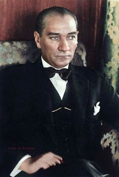 Historical figures of the world – Color by Klimbim : Mustafa Kemal Atatürk History Of India, History Photos, Women In History, Ancient History, Colorized Historical Photos, Famous Historical Figures, Rare Images, Powerful Images, Filipino