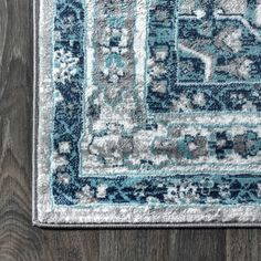 Shop our selection of Morioka Persian Vintage Medallion Rug at our online store. Light Grey, Blue Rug, Blue Grey Rug, Rugs, Power Loom, Blue And White Living Room, Vintage Medallion, Area Rugs, Vintage