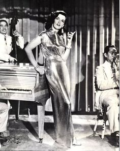 Jane Russell 1952 (Macao) wearing Joseff of Hollywood jewelry