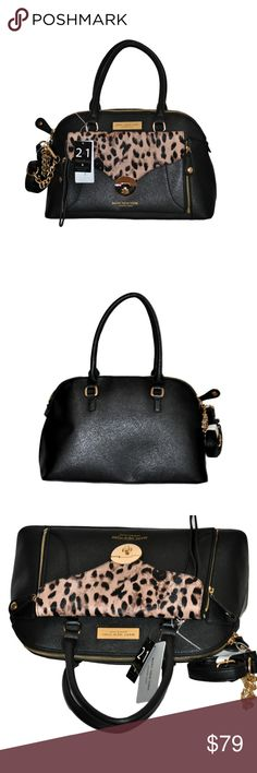 0a9316d288 COACH Black Leather WILLIS Dowel Top Handle Flap Satchel Crossbody Handbag   9185  Coach  Satchel