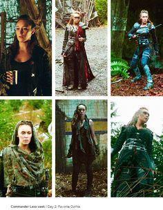 Commander Lexa Week: Favorite Outfits.... She's so badass I love it!!!