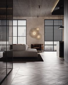 Trendy Home Office Ideas For 2 Spaces Ideas Apartment Interior Design, Modern Interior Design, Interior Architecture, Contemporary Interior, Luxury Interior, Modern Art, Floor Design, House Design, Br House