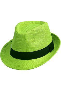 e539fdd40fc Vibrant Basic Straw Fedora Hat