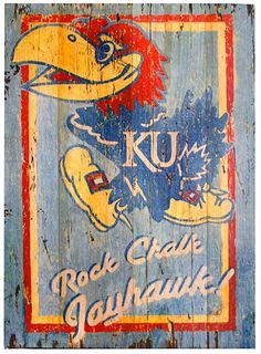 Somewhere on a wall, Rock Chalk Jayhawk!