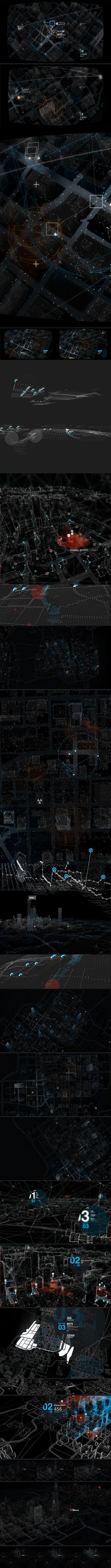 WATCH_DOGS : The Grid by Timothe Lapetite on Behance #Motion Graphics #User Interface #Design Concept