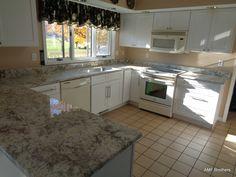 Aspen White - Saint Joseph, MI  -  http://www.amfgranite.com/granite-countertops-projects/aspen-white-saint-joseph-mi/