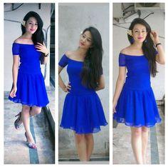 Blue mermaid - Aditi Budhathoki People Around The World, Real People, Fall In Luv, Asda, Indian Actresses, Mermaid, Formal Dresses, Blue, Style