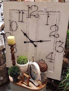 Clock made from door panel